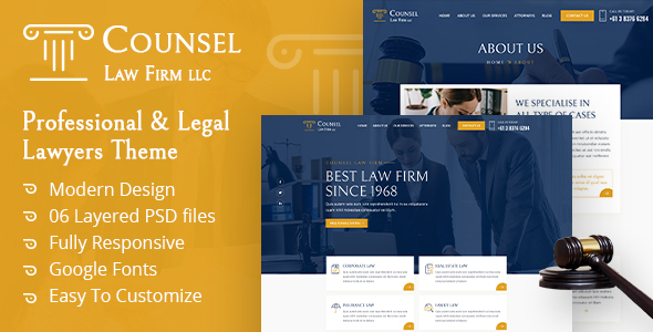 [Free Download] Counsel Law Firm UI Template (Nulled) [Latest Version]