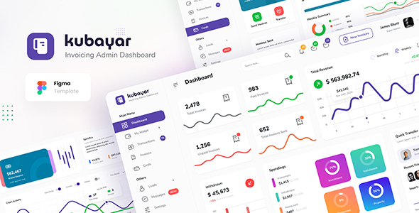 [Free Download] Kubayar – Invoicing Admin Dashboard UI Template Figma (Nulled) [Latest Version]