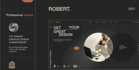 [Free Download] Robert. – Personal CV/Resume Figma Template (Nulled) [Latest Version]