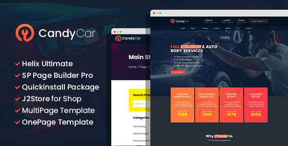 [Free Download] CandyCar – Auto service Joomla Template With Page Builder (Nulled) [Latest Version]