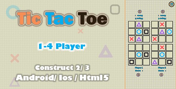 [Free Download] Tic Tac Toe 4 Player- HTML5 Game (Construct 2/3) (Nulled) [Latest Version]