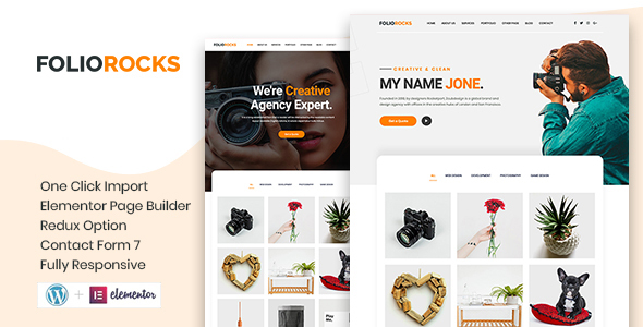 [Free Download] Foliorocks – Minimal Portfolio WordPress Theme (Nulled) [Latest Version]