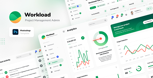 [Free Download] Workload – Project Management Admin Dashboard UI PSD (Nulled) [Latest Version]