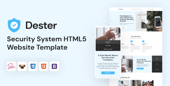 [Free Download] Dester – Security System HTML5 Template (Nulled) [Latest Version]
