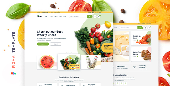 [Free Download] Disho – Grocery Store for Figma (Nulled) [Latest Version]