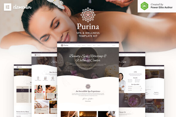 [Free Download] Purina – Spa & Wellness Elementor Template Kit (Nulled) [Latest Version]