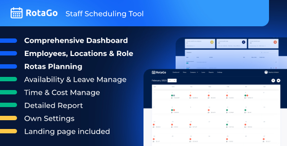 [Free Download] RotaGo – Staff Scheduling Tool (Nulled) [Latest Version]