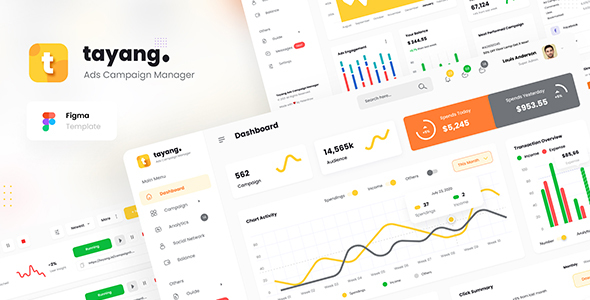 [Free Download] Tayang – Ad Manager Admin Dashboard UI Template Figma (Nulled) [Latest Version]