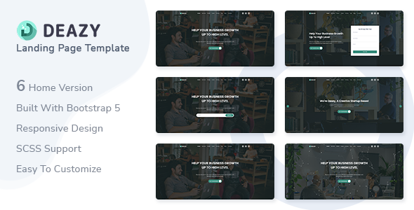 [Free Download] Deazy – Bootstrap 5 Landing Page Template (Nulled) [Latest Version]