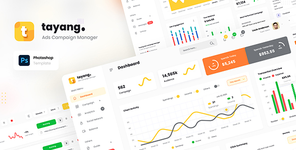 [Free Download] Tayang – Ad Manager Admin Dashboard UI Template PSD (Nulled) [Latest Version]