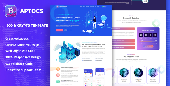 [Free Download] Aptocs – ICO & Crypto Template (Nulled) [Latest Version]