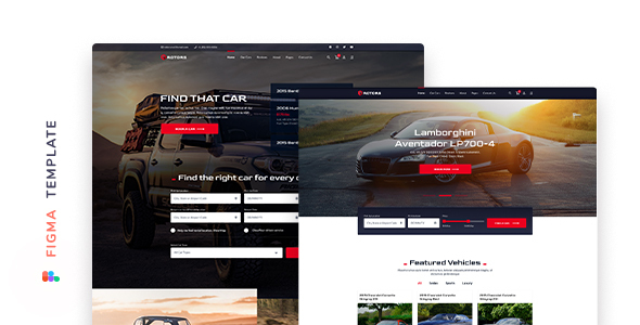 [Free Download] Rotors – Car Rental Template for Figma (Nulled) [Latest Version]