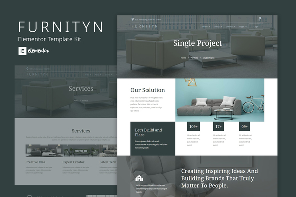 [Free Download] Furnityn –  Interior Design Elementor Kit Template (Nulled) [Latest Version]