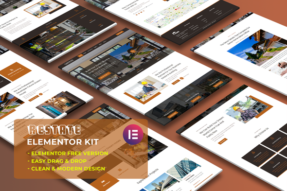 [Free Download] Restate – Construction Builder Elementor Template Kit (Nulled) [Latest Version]