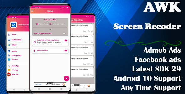 [Free Download] AWK Screen Recorder with Audio (Android 10 supported) (Nulled) [Latest Version]