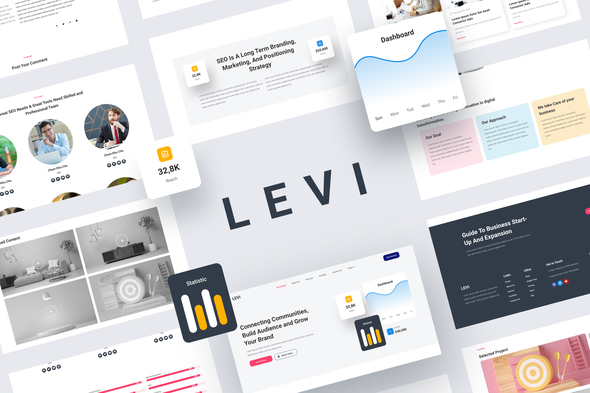 [Free Download] Levi – Digital Marketing Elementor Template Kit (Nulled) [Latest Version]