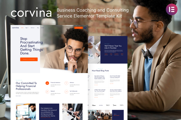 [Free Download] Corvina – Business Coaching & Consulting Service Elementor Template Kit (Nulled) [Latest Version]