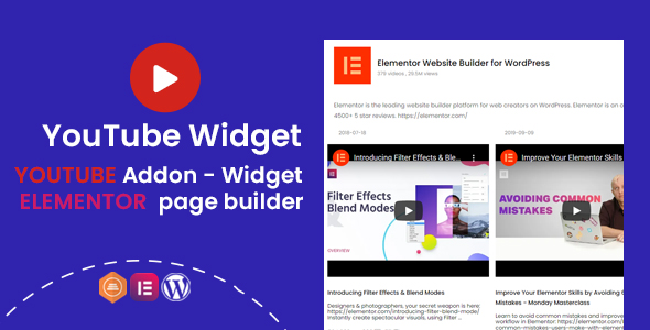 [Free Download] YouTube Widgets – Addon for elementor page builder (Nulled) [Latest Version]