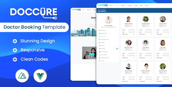 [Free Download] Doccure – Vuejs Nuxtjs Bootstrap Template (Nulled) [Latest Version]