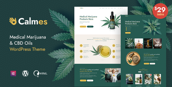 [Free Download] Calmes – Medical Marijuana WordPress Theme (Nulled) [Latest Version]