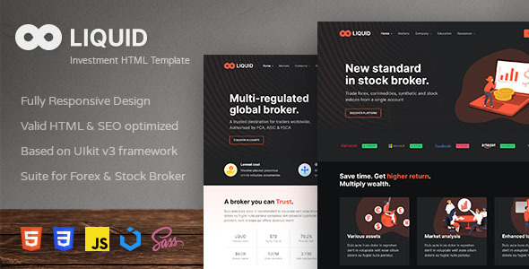 [Free Download] Liquid – Investment and Stock Broker HTML Template (Nulled) [Latest Version]