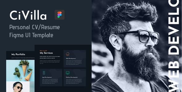 [Free Download] CiVilla – Personal CV_Resume Figma UI Template (Nulled) [Latest Version]