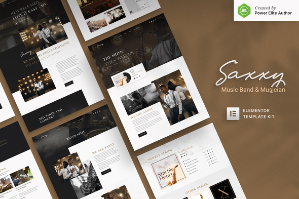 [Free Download] Saxxy – Music Band & Musician Elementor Template Kit (Nulled) [Latest Version]