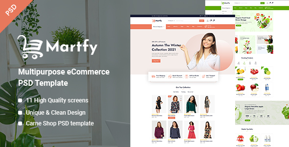 [Free Download] Martfy – Multipurpose eCommerce PSD Template (Nulled) [Latest Version]