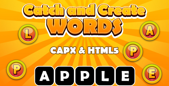 [Free Download] Catch and Create Words (CAPX and HTML5) Kids Learning Game (Nulled) [Latest Version]