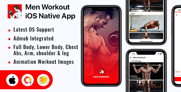 [Free Download] Men Workout – iOS App (Nulled) [Latest Version]