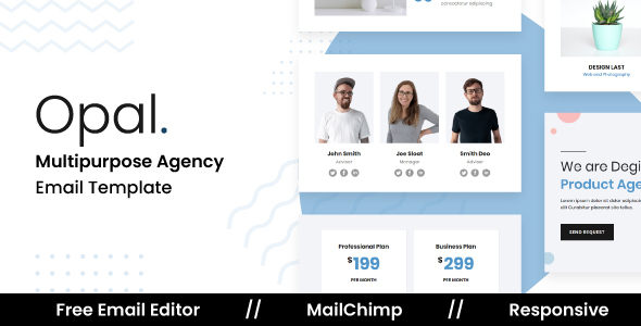 [Free Download] Opal – Responsive Email Template For Agency With Free Email Editor (Nulled) [Latest Version]