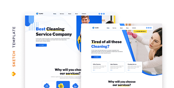 [Free Download] Clino – Cleaning Template for Sketch (Nulled) [Latest Version]