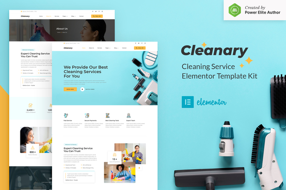 [Free Download] Cleanary – Cleaning Service Company Elementor Template Kit (Nulled) [Latest Version]