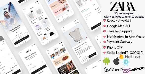 [Free Download] Zara App – React Native Woocommerce (Nulled) [Latest Version]