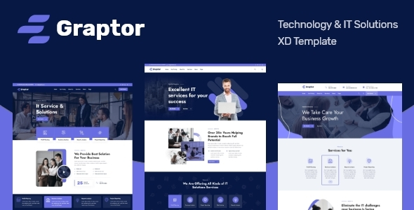 [Free Download] Graptor – Technology & IT Solutions XD Template (Nulled) [Latest Version]
