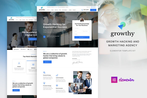 [Free Download] Growthy – Growth Hacking & Marketing Agency Elementor Template Kit (Nulled) [Latest Version]