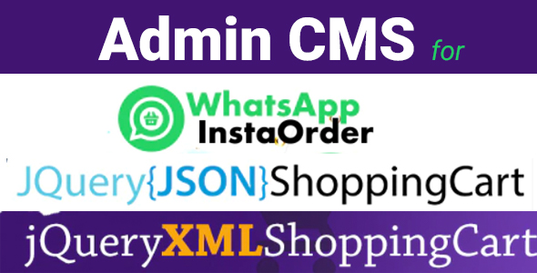 [Free Download] Admin CMS for WhatsApp Insta Order – jQuery JSON Store Shop – jQuery XML Store Shop (Nulled) [Latest Version]