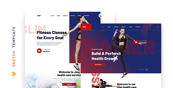 [Free Download] Josy – Fitness Template for Sketch (Nulled) [Latest Version]