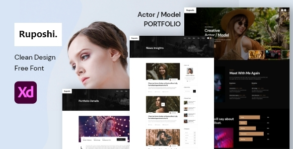[Free Download] Ruposhi – Actor, Model Portfolio XD Template (Nulled) [Latest Version]