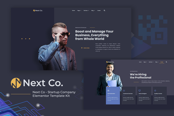 [Free Download] Next Co – Startup Company Elementor Template Kit (Nulled) [Latest Version]