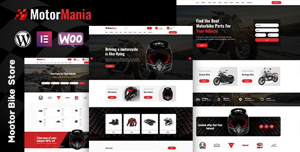 [Free Download] MotorMania – Motorcycle Accessories WooCommerce Theme (Nulled) [Latest Version]