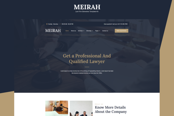 [Free Download] Meirah – Law Firm Elementor Template Kit (Nulled) [Latest Version]