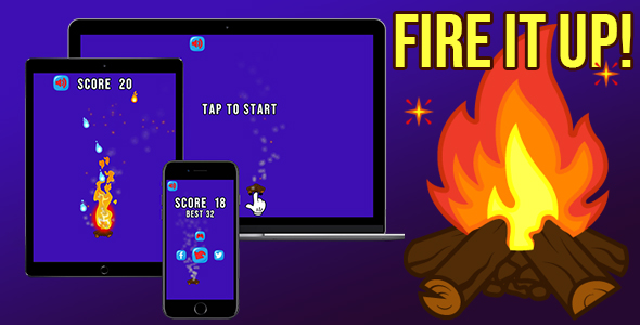 [Free Download] Fire it Up! – HTML5 Game (Construct 3 – 2 | capx | c3p) (Nulled) [Latest Version]