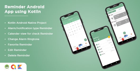 [Free Download] Reminder Android App Using Kotlin Alarm Android App (Nulled) [Latest Version]