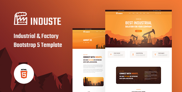 [Free Download] Induste – Industrial & Factory Bootstrap 5 Template (Nulled) [Latest Version]