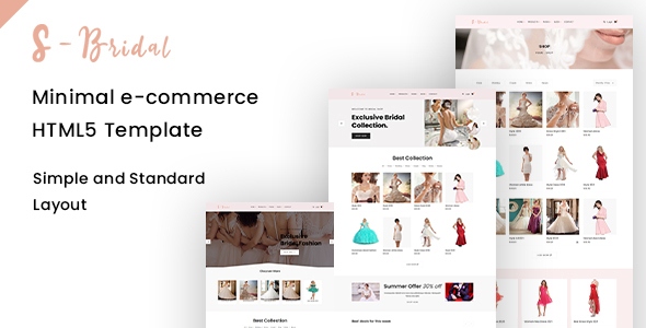 [Free Download] sBridal – Minimal E-commerce Html Template (Nulled) [Latest Version]