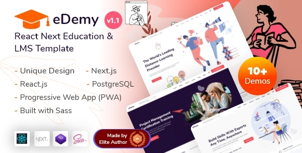 [Free Download] eDemy – React Next Education & LMS Template (Nulled) [Latest Version]