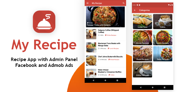 [Free Download] My Recipe App with Admin Panel and Facebook, Admob Ads (Nulled) [Latest Version]