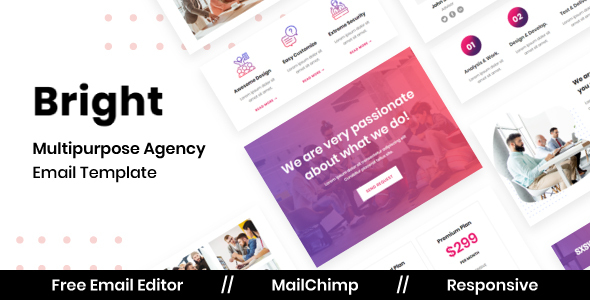 [Free Download] Bright Agency – Multipurpose Responsive Email Template (Nulled) [Latest Version]