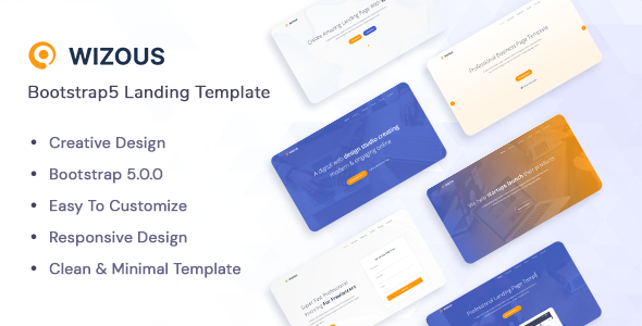[Free Download] Wizous – Bootstrap 5 Landing page Template (Nulled) [Latest Version]